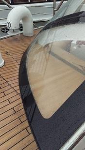 Монтаж сферического стеклопакета с шелкографией