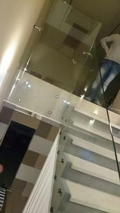 Ограждение лестницы жилом комплексе Триумф Палас