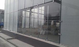 Замена фасадного остекление в БЦ. Москва.