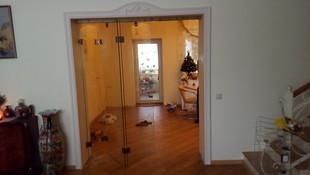 Складная стеклянная дверь