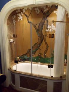 Ограждение ванны из безопасного стекла