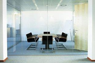 Стеклянная перегородка в офисе авилон плаза